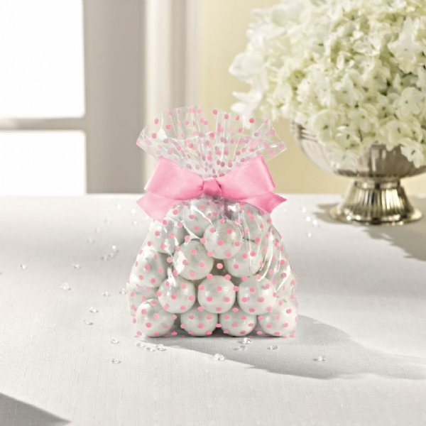 Treat Bags With Bow - Pink